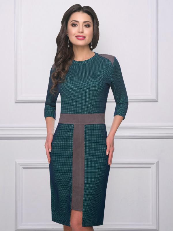 Платье Лидерская нотка (изумруд)