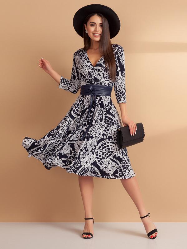 Платье Бонжур, леди! (с поясом)