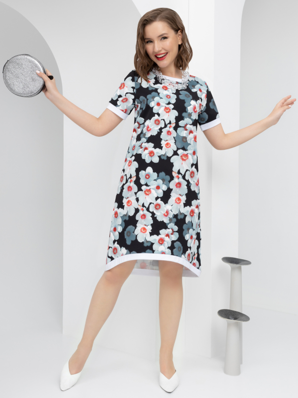 CHARUTTI    Платье Люблю Пикассо (цветочная феерия)