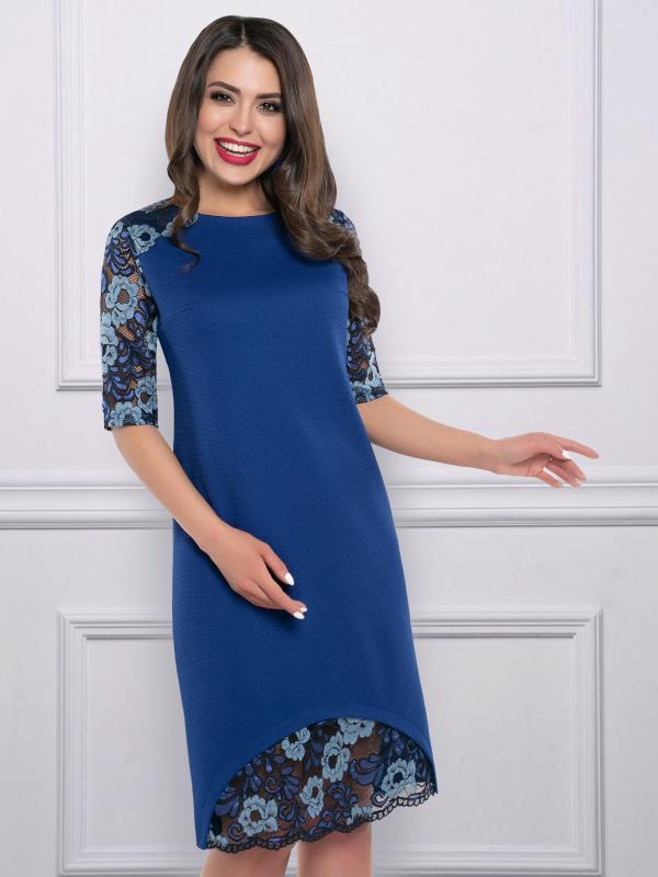 Платье Шикарная женщина (сапфир)
