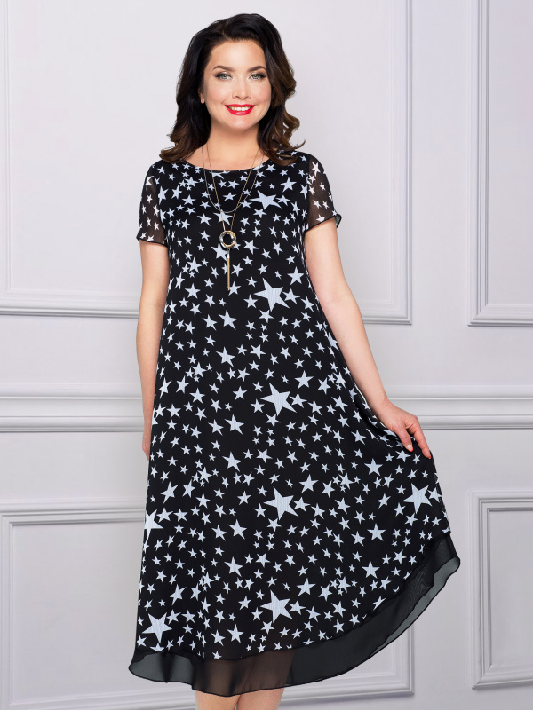 Платье Европейский шик (космос)