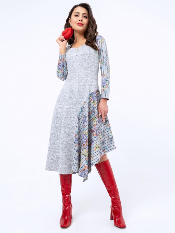 Платье В лучшем виде (игривая, с брошкой)