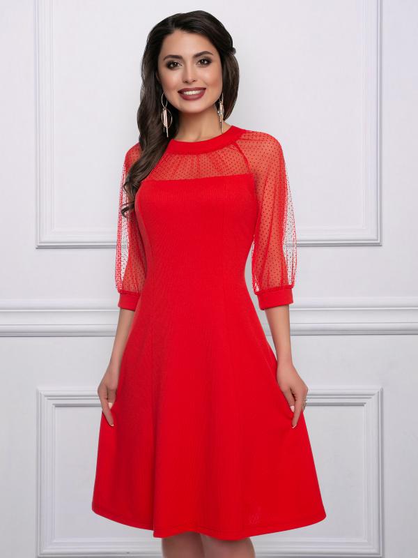 Платье Двойное превосходство (алая)