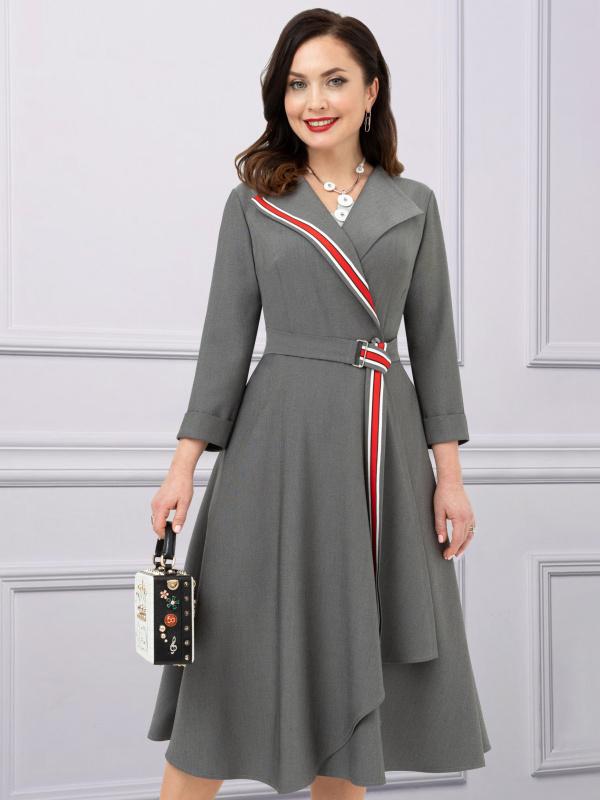Платье Дорого-богато (спорт-шик, грей)
