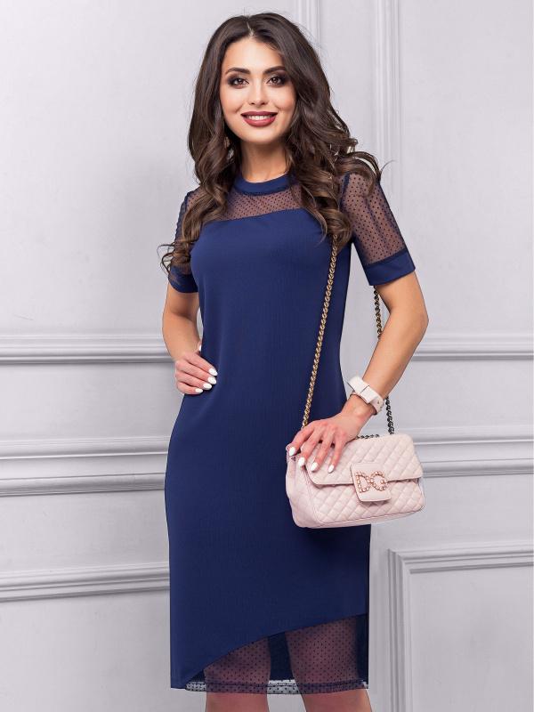 Платье Вау-эффект (индиго)