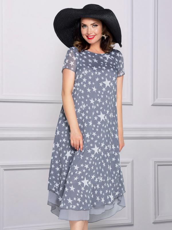 Платье Европейский шик (сильвер)