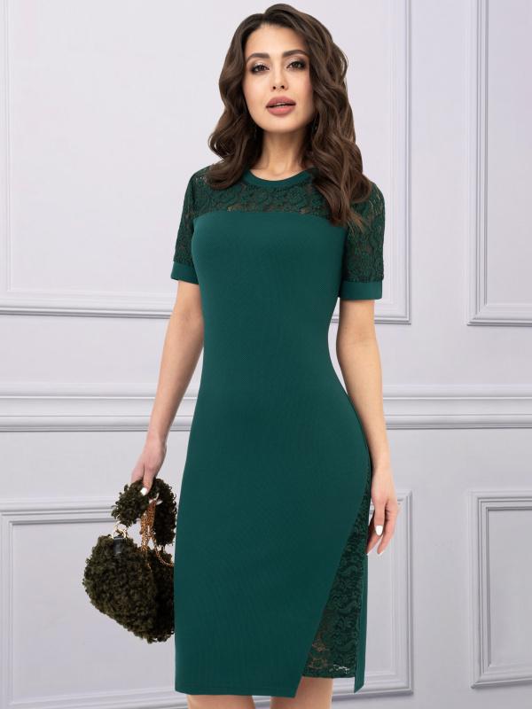 Платье В стиле Дольче (изумруд)