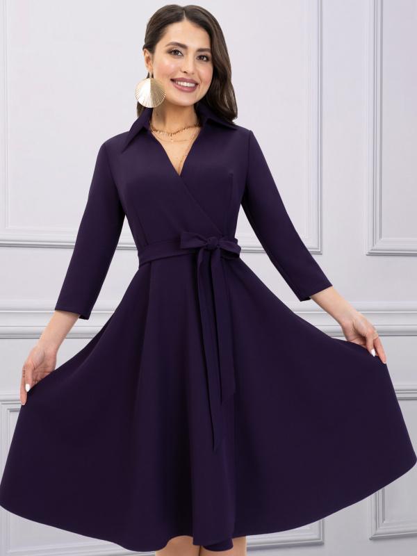 Платье Верю в счастье (черника)                                                        СНОВА В ПРОДАЖЕ