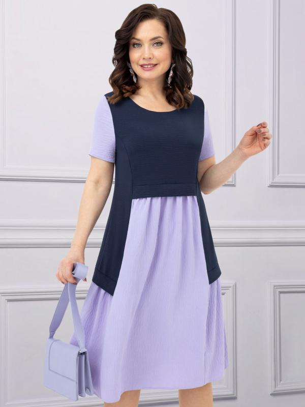 Платье Игра в классику (сирень)